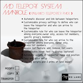 MD Teleport System - Manhole