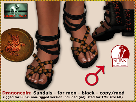 DEMO Bliensen + MaiTai - Dragoncoin - Sandals for men - for Slink and TMP