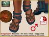 Bliensen + MaiTai - Dragoncoin - Sandals M - blue
