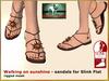 DEMO Bliensen + MaiTai - Walking on Sunshine - Sandals for Slink - for women