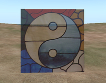 Stained Glass Yin and Yang