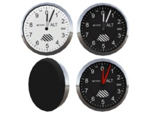 Full Perm Scripted Mesh Altimeter 0.5li (Instrument - Gauge - Avionics) for Airplane, Helicopter or Blimp Creators