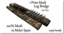 1 Prim Mesh Log Bridge 10m Span copy-mody