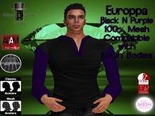 EC Mens Europpa Shirt Black N Purple