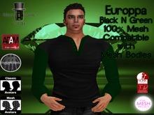 EC Mens Europpa Shirt Black N Green