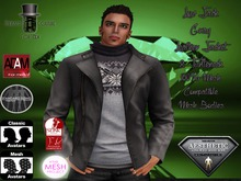 EC Leather N T Jacket Gray