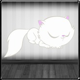 *~LT~*  Sleeping Kitty Wall Art Decal