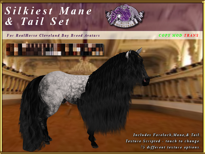 *E* RealHorse Silkiest Mane & Tail Set [BOXED] RHCB