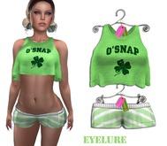 Eyelure Loose Tank and MiniShorts  O'Snap & Green Stripe