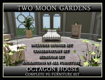OCTAGON HOUSE - FURNITURE SET - Lounge, bedroom and conservatory sets.
