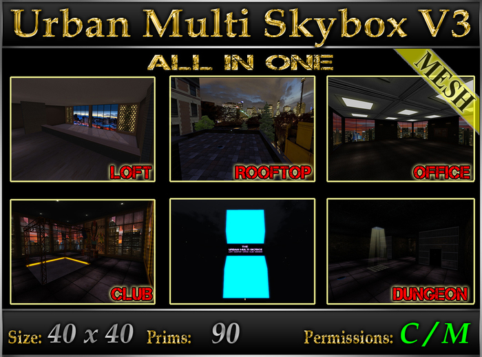 The Urban Multi Skybox V3 - Loft-Rooftop-Office-Club-Dungeon - MESH