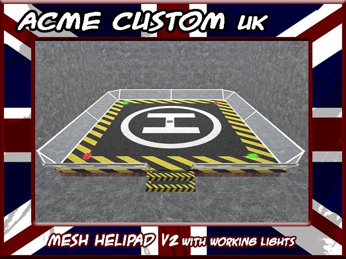Mesh Helipad V2 (with landing lights)
