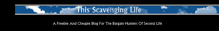 This scavenging life   freebie   cheapie sl 2 mp banner
