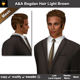 A&A Bogdan Hair Light Brown (Special Color). Short mens mesh hairstyle. Promo!