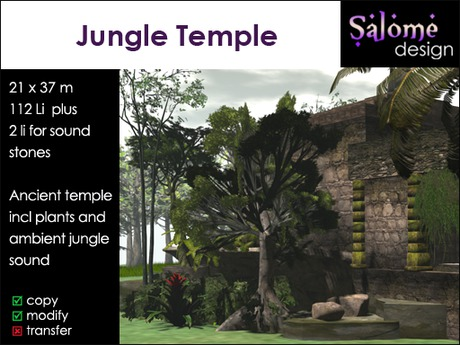 Jungle Temple ** plants and ambient sounds included**