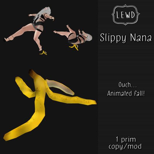 : Lewd :  Slippy Nana, animated banana peel prank