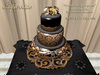Aphrodite Dramatically gorgeous Wedding cake- Gothic wedding cake- Halloween wedding cake