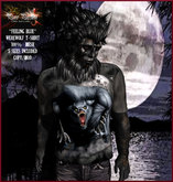 Pure Passion Mesh Male WEREWOLF FEELING BLUE T-shirt in 5 sizes