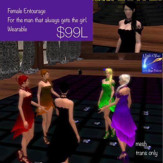 Female entourage wearable (box)