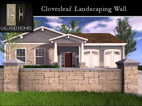 Cloverleaf Landscaping Wall - Mesh Landscaping Item