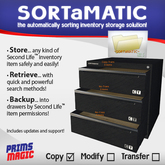 ✮ SORTaMATIC INVENTORY STORAGE SOLUTION! ✮
