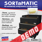 ✮ SORTaMATIC INVENTORY STORAGE (DEMO VERSION) ✮