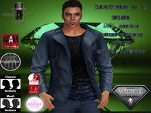 EC Leather N T Jacket Blue