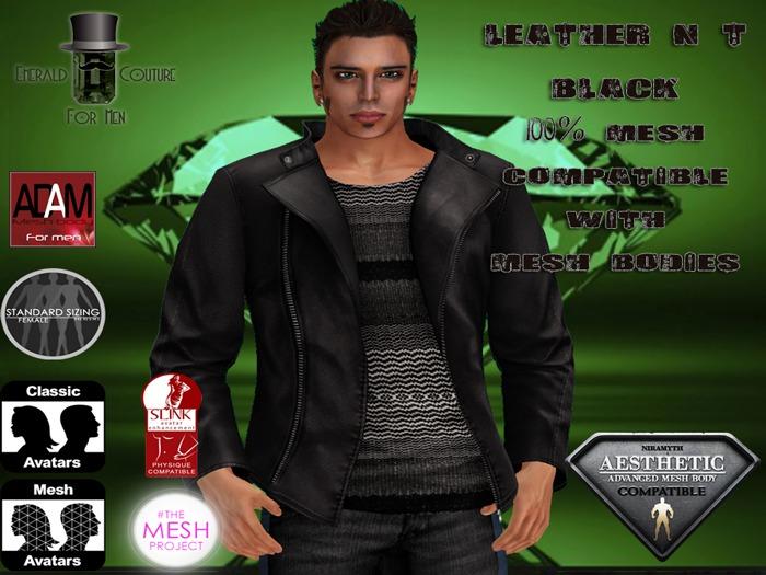 EC Leather N T Jacket Black