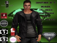 EC Leather N T Jacket Black