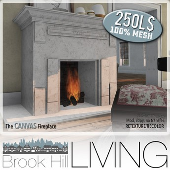 Brook Hill Living - The Canvas Fireplace