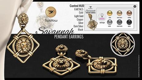^^Swallow^^ Savannah Pendant Earrings