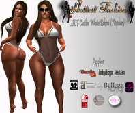 .:H.F Caitlin White Bikini (Applier)