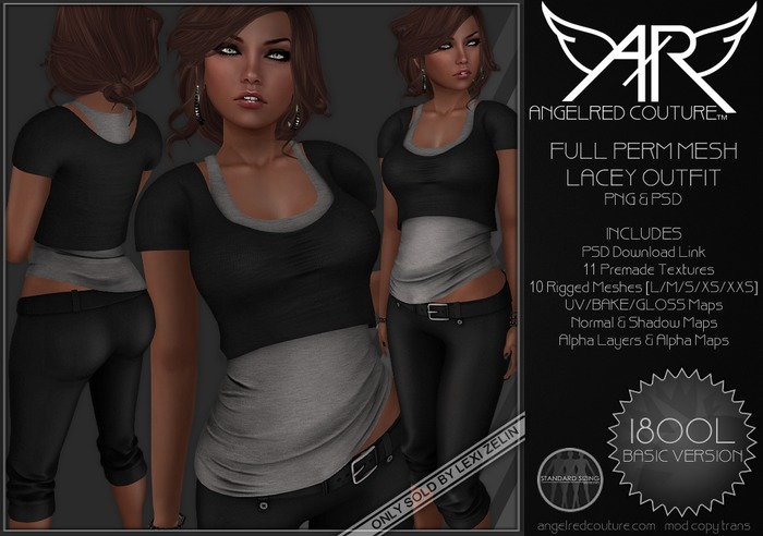 AngelRED - FULL PERM MESH Lacey Outfit [BASIC VERSION]