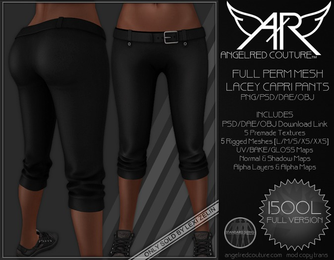 AngelRED - FULL PERM MESH Lacey Capri Pants [FULL VERSION]