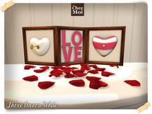Three lovers white ♥ NEW Chez Moi