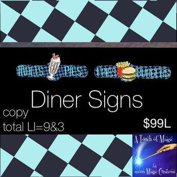 Diner signs (bag)