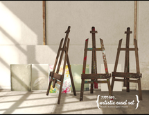 {vespertine- easels+canvas set}bx
