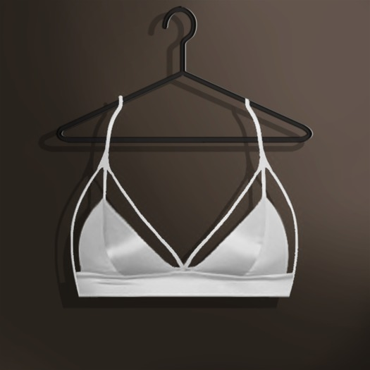 Naive. Omega Applier - Viviane Satin Strappy Bra - White