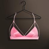 Naive. Omega Applier - Viviane Satin Strappy Bra - Pink