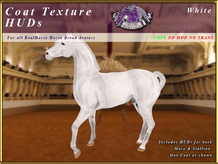 *E* RealHorse Coat Texture HUD [BOXED] White