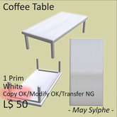 - May Sylphe - Coffee Table White