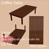 - May Sylphe - Coffee Table Brown