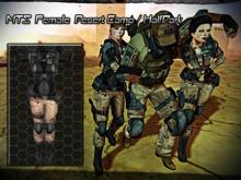WT MTS female combat suit desert camo halfdark