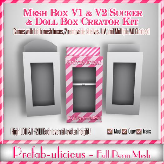Prefabulicious Full Perm Mesh Product & Doll Box Creator Kit