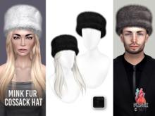 PLASTIX - Fur Cossack Hat (Black)