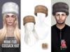 PLASTIX - Fur Cossack Hat (Golden)