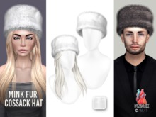 PLASTIX - Fur Cossack Hat (White)