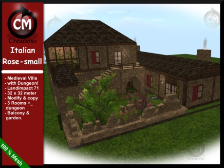 CM Creations, Italian Rose Villa Small Version, comes with dungeon!