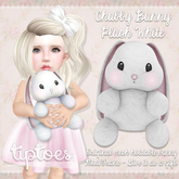 . tiptoes - Chubby Bunny Plush - White