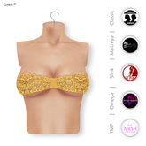 Gawk! Yellow Lace Bandeau Top | BoM & Appliers for Maitreya, Slink Physique, TMP & Omega System